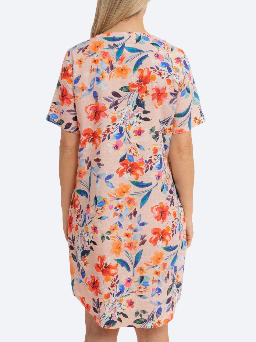 JUMP SPRING FLORAL SHIFT DRESS