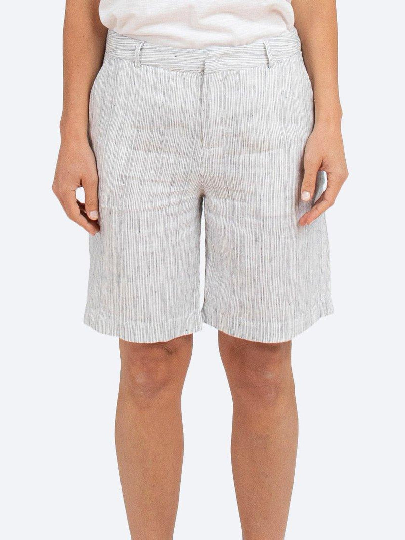 JUMP STRIPE LINEN SHORT