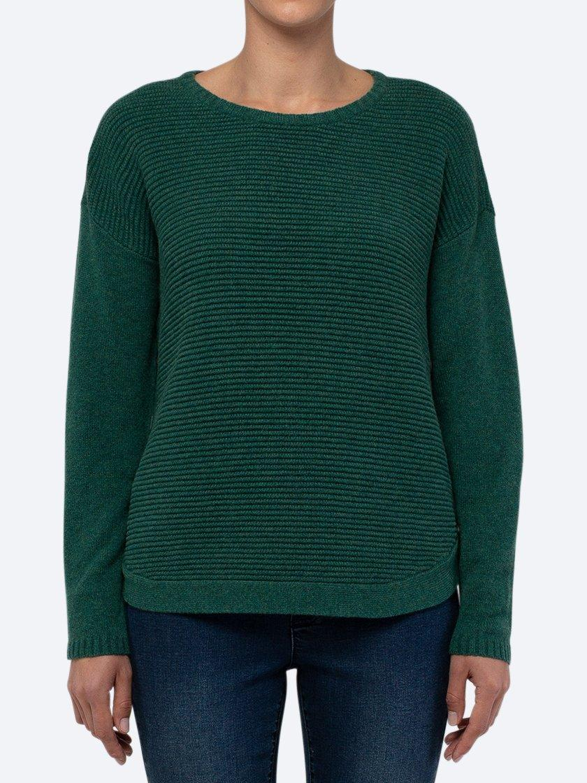 JUMP RIB JUMPER WITH SIDE BUTTONS