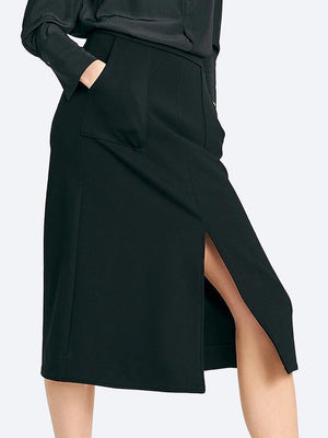 Yeltuor - LAYER'D - Skirts - LAYER'D PONTE A LINE SKIRT -  -