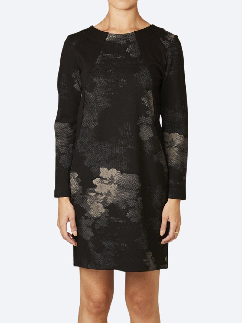 LAYER'D PRINT VIKT PONTE DRESS