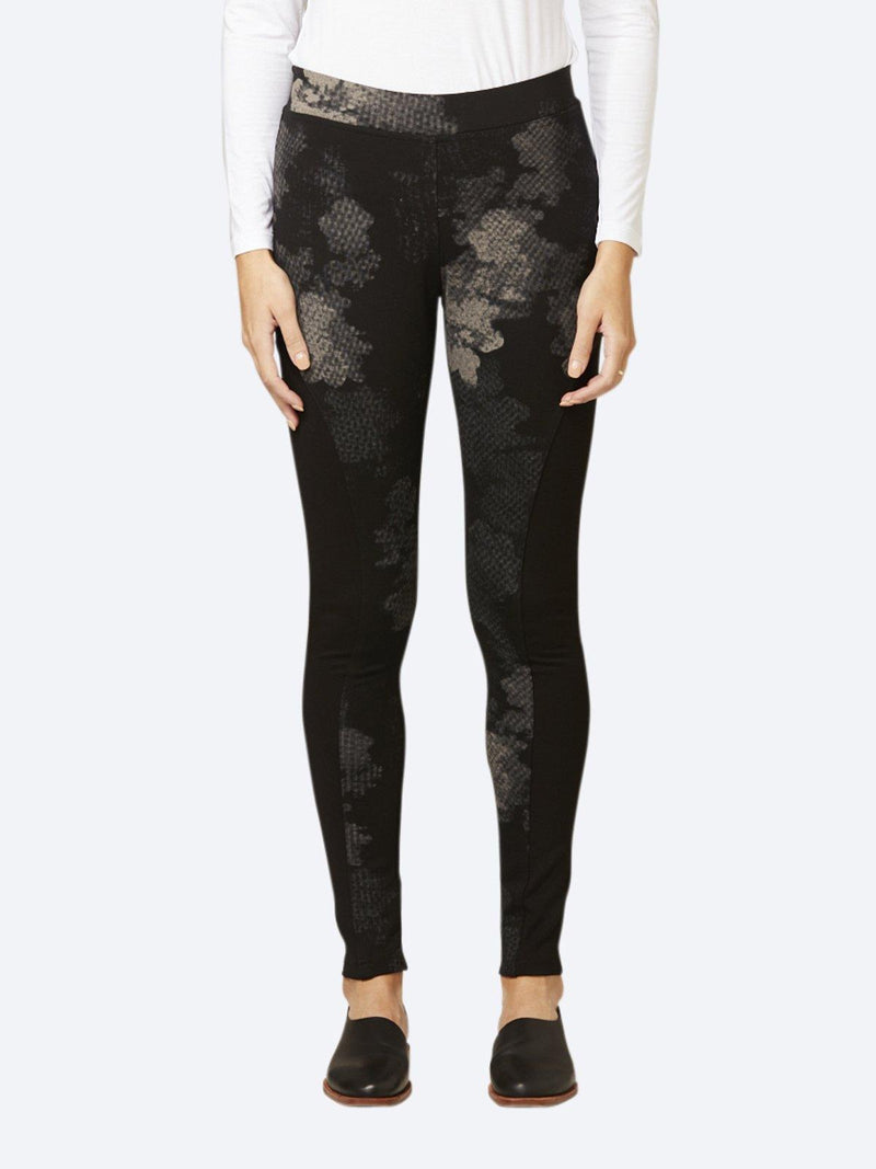 LAYER'D PRINT PONTE SPLICED PANT