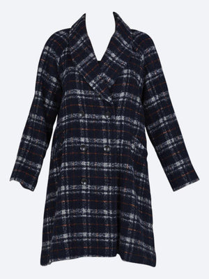 LAYER'D DELA WOOL BLEND CHECK COAT