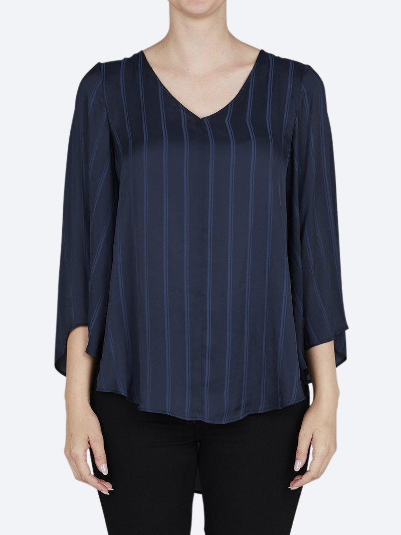 LAYERED STRIPE TAHITI TOP