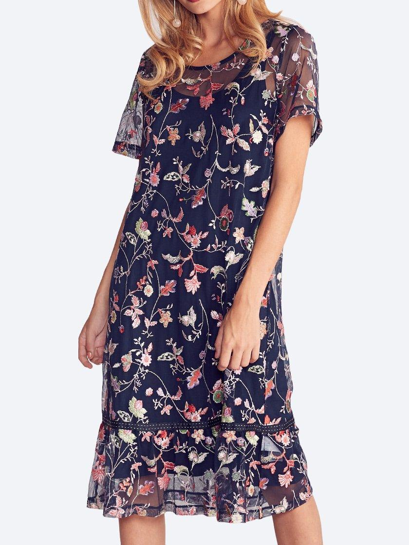 LOOBIE'S STORY EMBROIDERED FLORENCE DRESS
