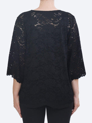 MELA PURDIE FLUTED LACE SPA T
