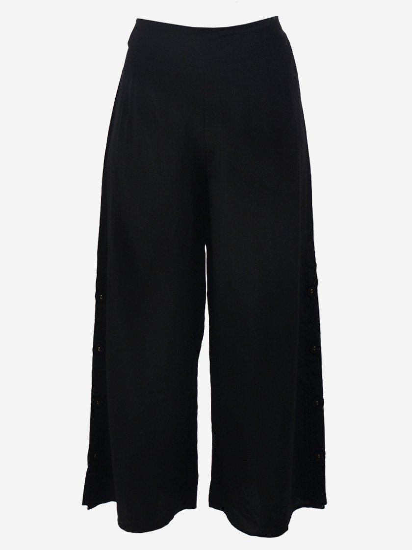 M.A. DAINTY FUR BALL SILK PANTS