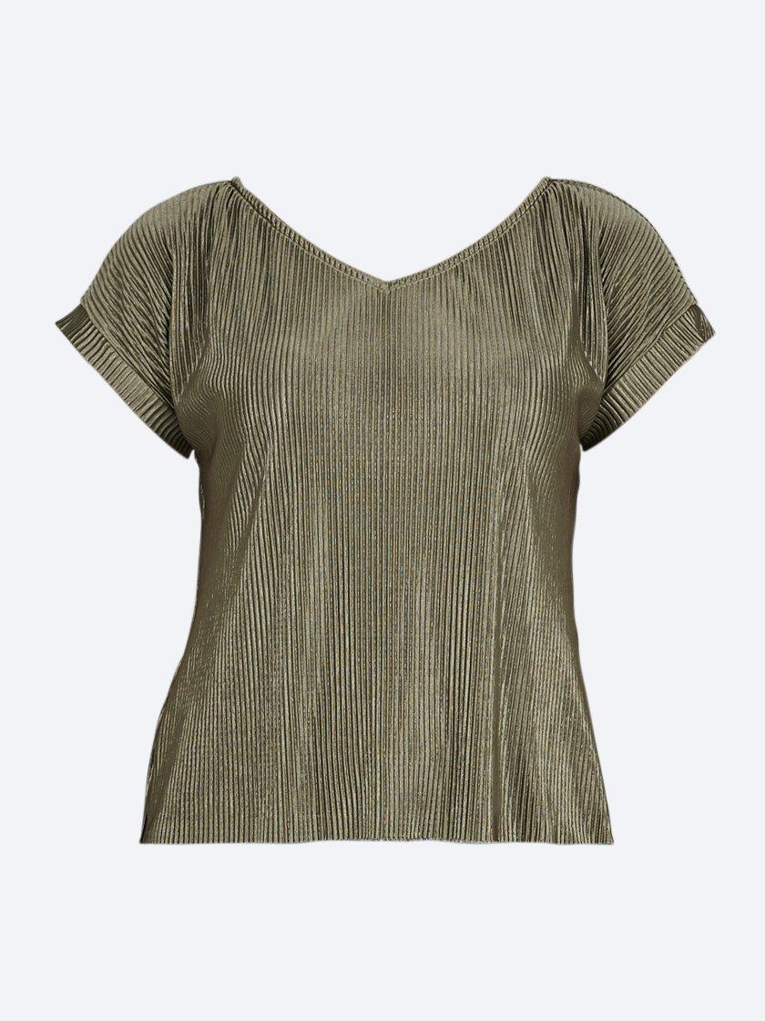 Yeltuor - MAJEN - Tops - MAJEN V PLEAT TOP -  -