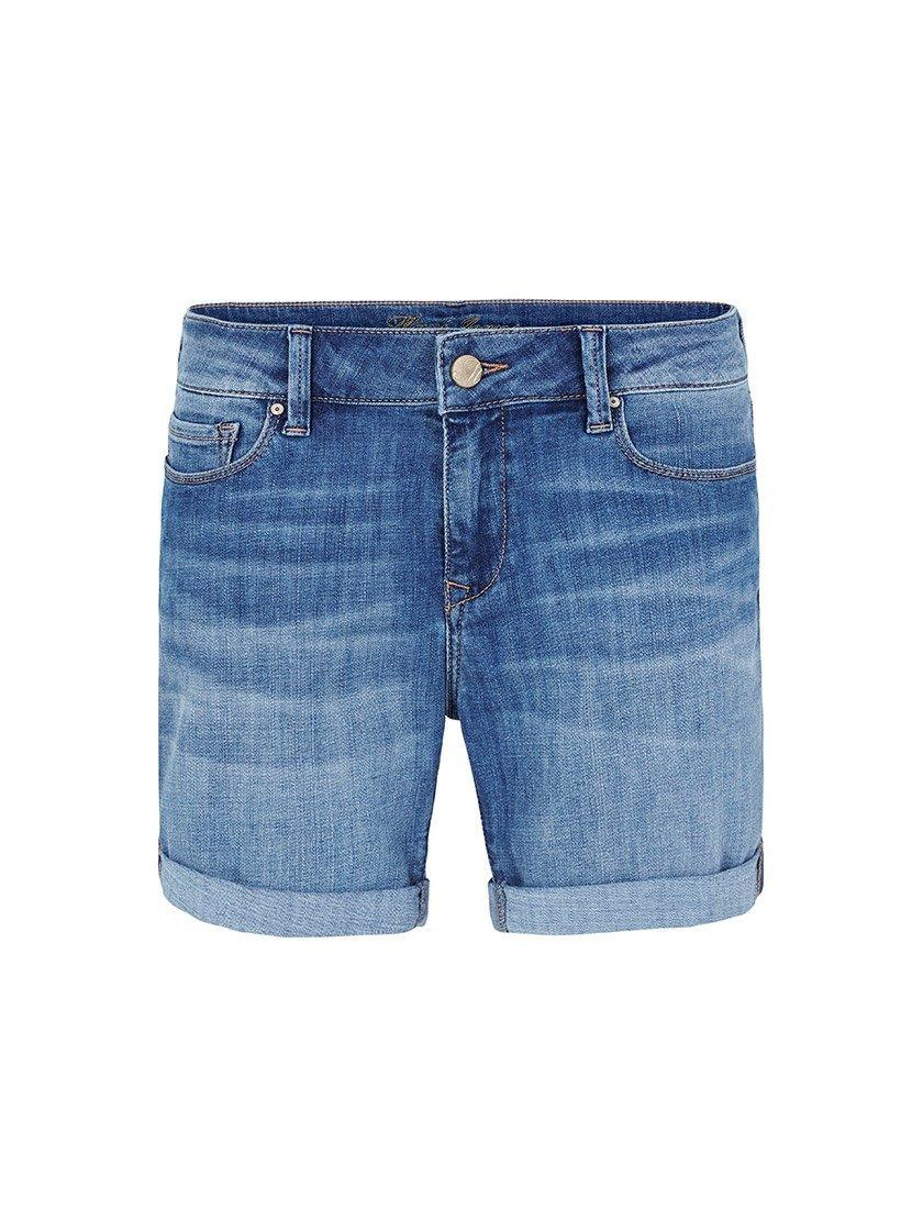 MAVI PIXIE MID RISE SHORT IN SEA BLUE TRIBECA-Shorts-MAVI JEANS-ENNI