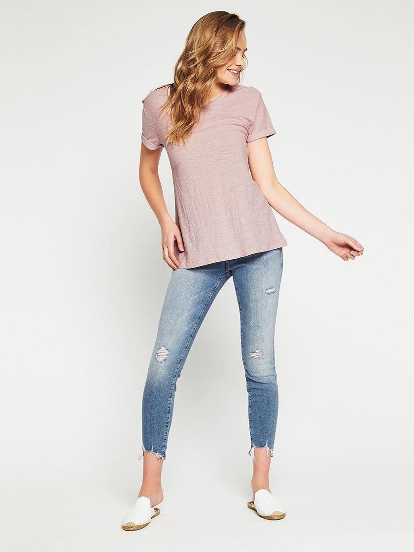 MAVI JEANS EVIE TEE IN WASHED ROSE-Tops-MAVI JEANS-ENNI