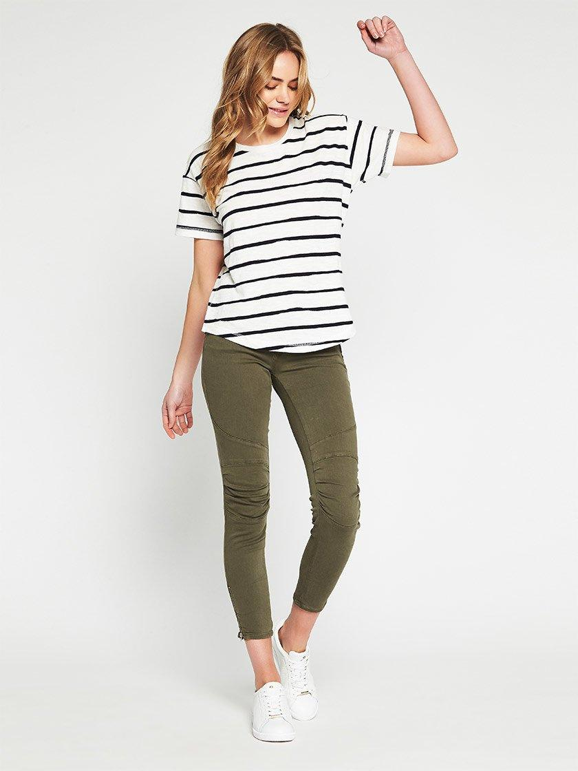 MAVI BECKY TEE IN WHITE MIDNIGHT STRIPE-Tops-MAVI JEANS-ENNI