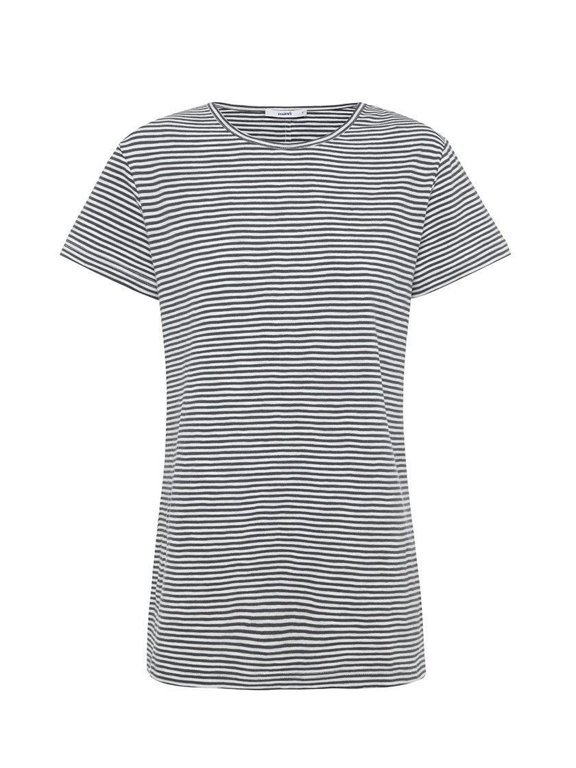 Yeltuor - MAVI JEANS - Tops - MAVI JEANS INDIA TEE IN WHITE MIDNIGHT STRIPE -  -