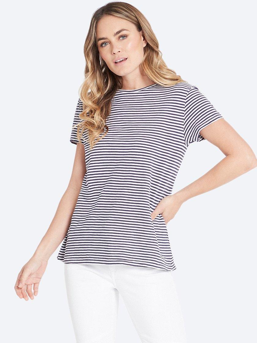 MAVI INDIA TEE VINTAGE BLUE STRIPE