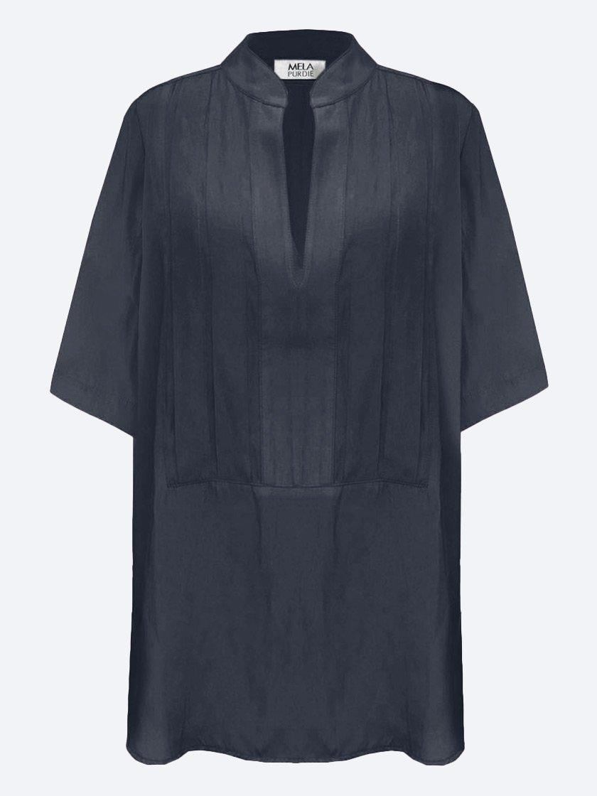 Yeltuor - MELA PURDIE - Tops - MELA PURDIE ACCORDIAN TOP - NAVY -  8