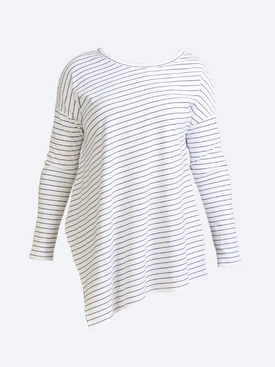 MELA PURDIE QUAY STRIPE SLIDE ON SWEATER