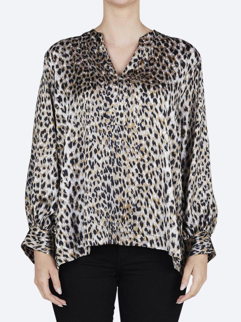 MELA PURDIE FOG LEOPARD SPEAR TOP