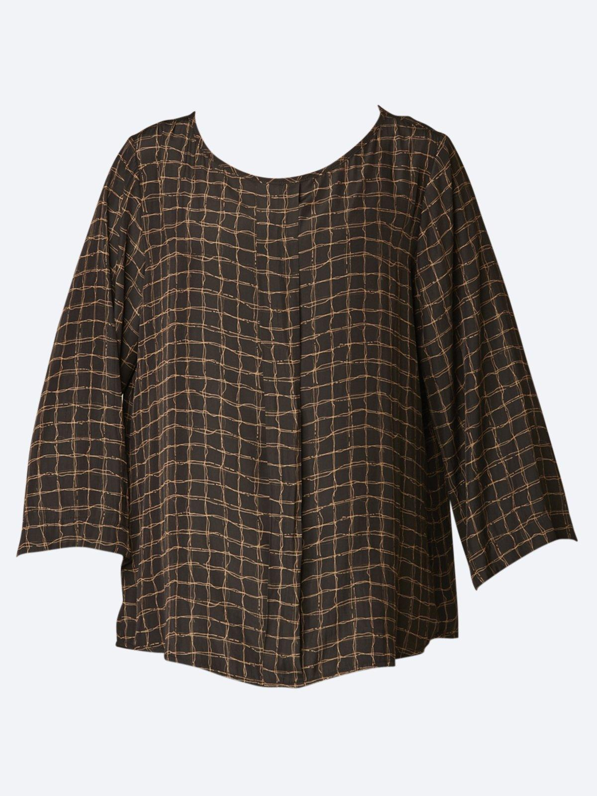 MELA PURDIE PLEAT CHECK TOP-Tops-MELA PURDIE-ENNI