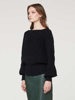 Yeltuor - ONCE WAS - Knitwear - ONCE WAS GOLDSMITH RIB NECK KNIT -  -