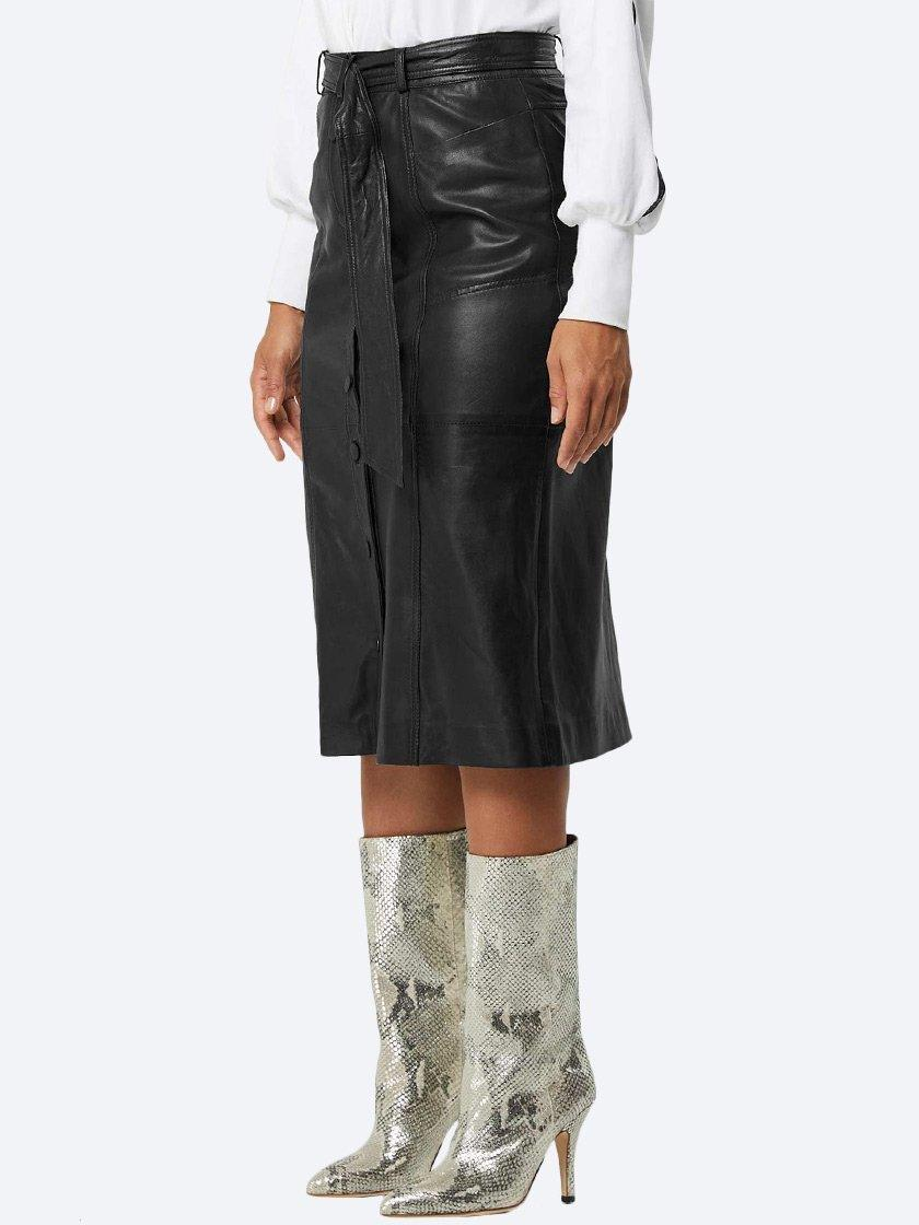 Yeltuor - ONCE WAS - Skirts - ONCE WAS COGNITION LEATHER MIDI SKIRT -  -
