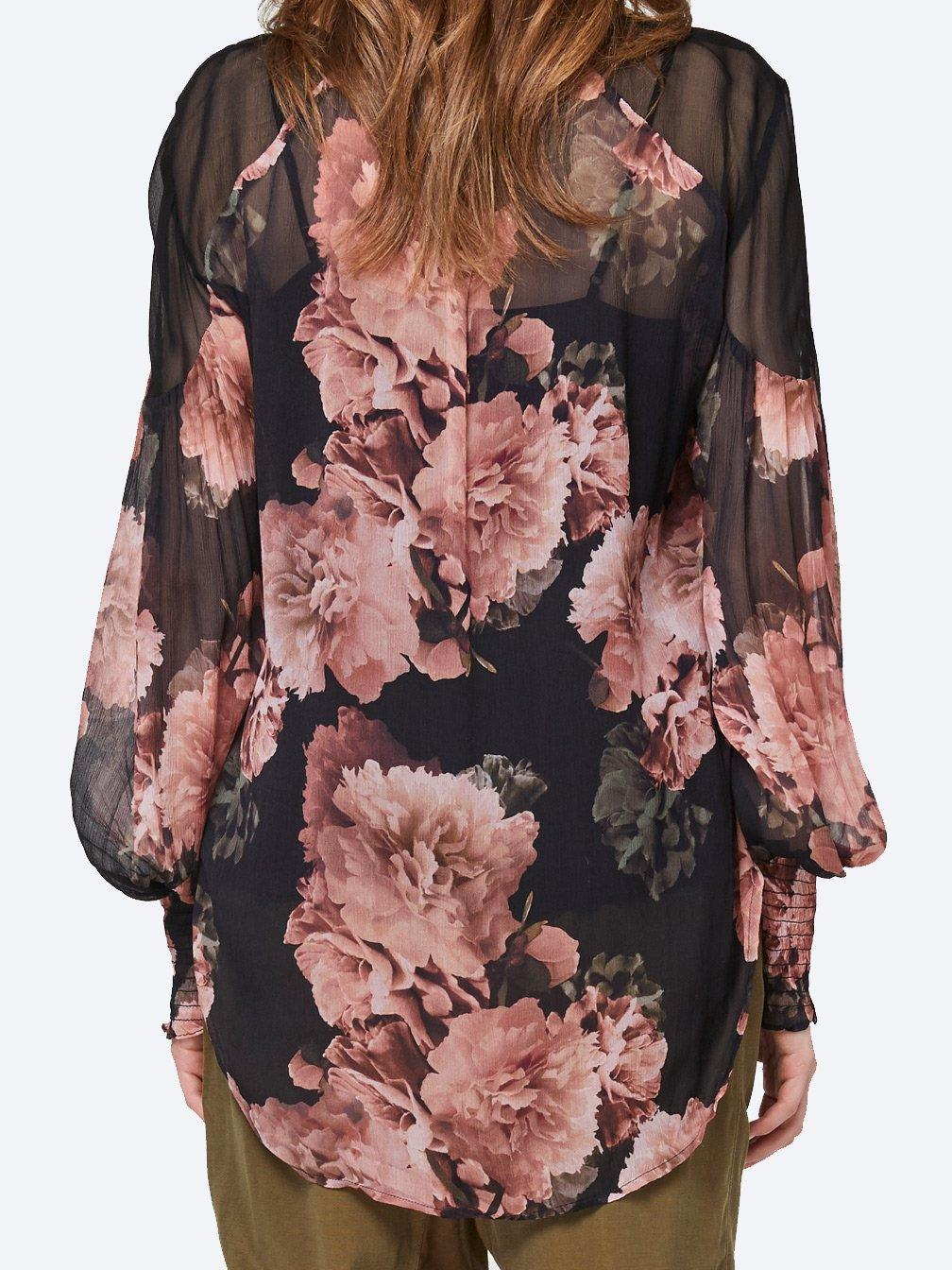 ONCEWAS MAYFAIR CHIFFON TOP