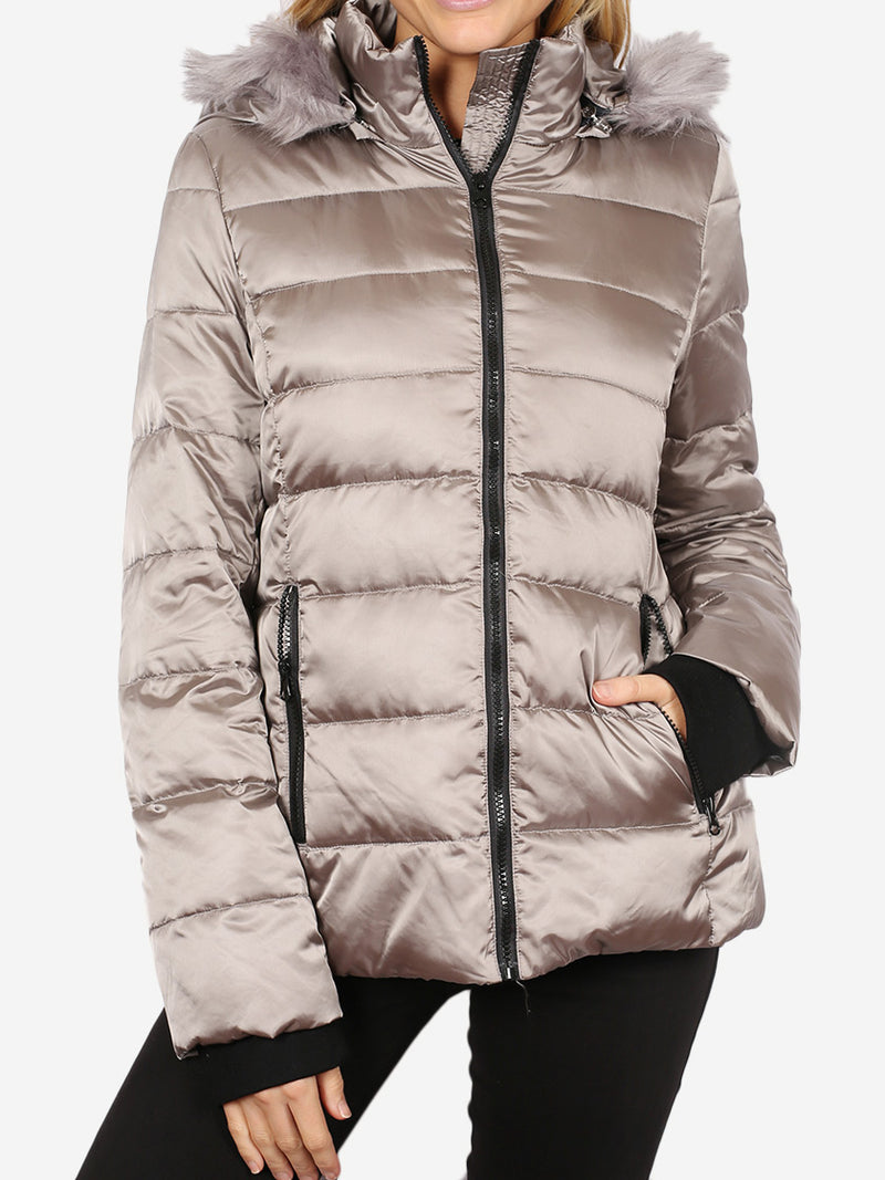 SABENA METALLIC DOWN PUFFER JACKET