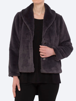 PING PONG FAUX FUR JACKET