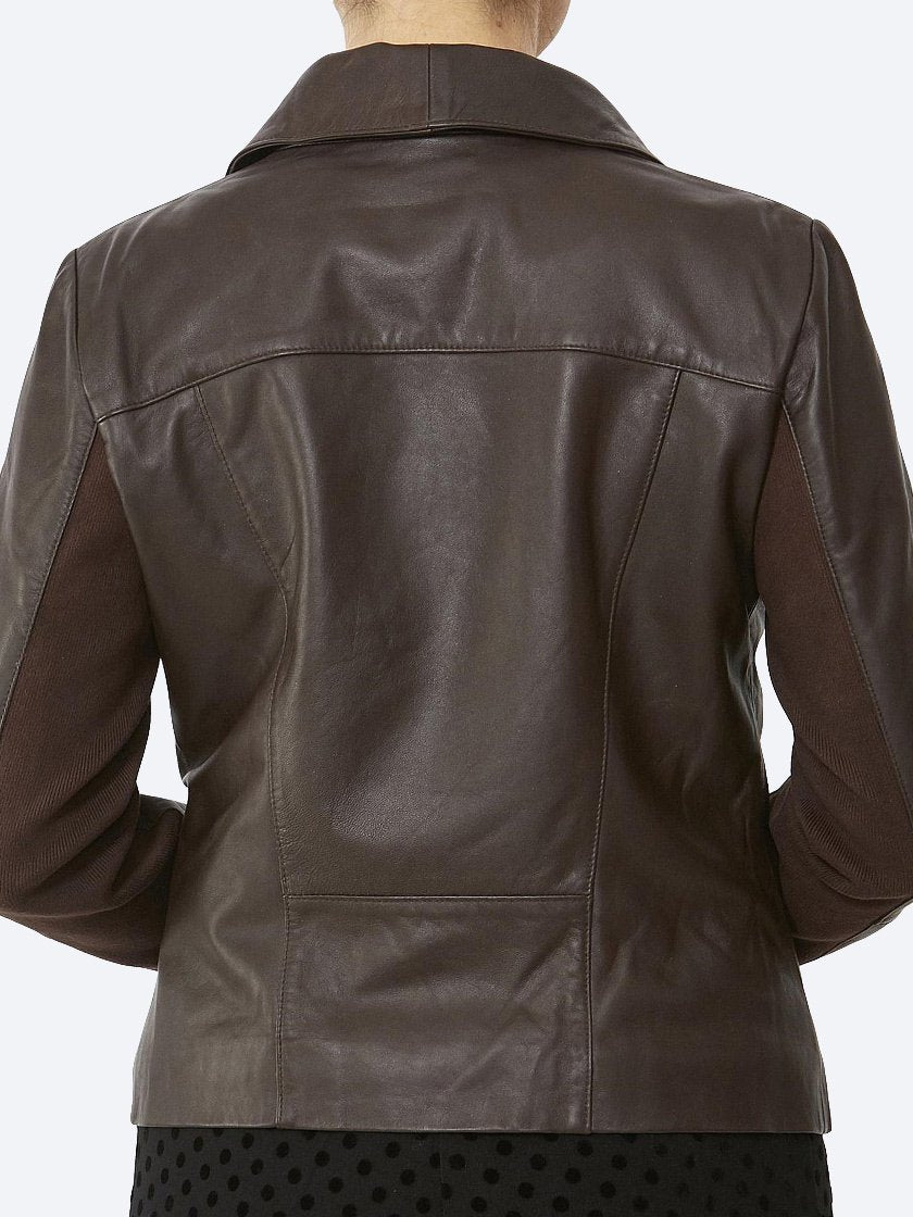 Yeltuor - PING PONG - Jackets & Coats - PING PONG WATERFALL LEATHER JACKET -  -