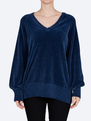 PING PONG CHENILLE V NECK KNIT