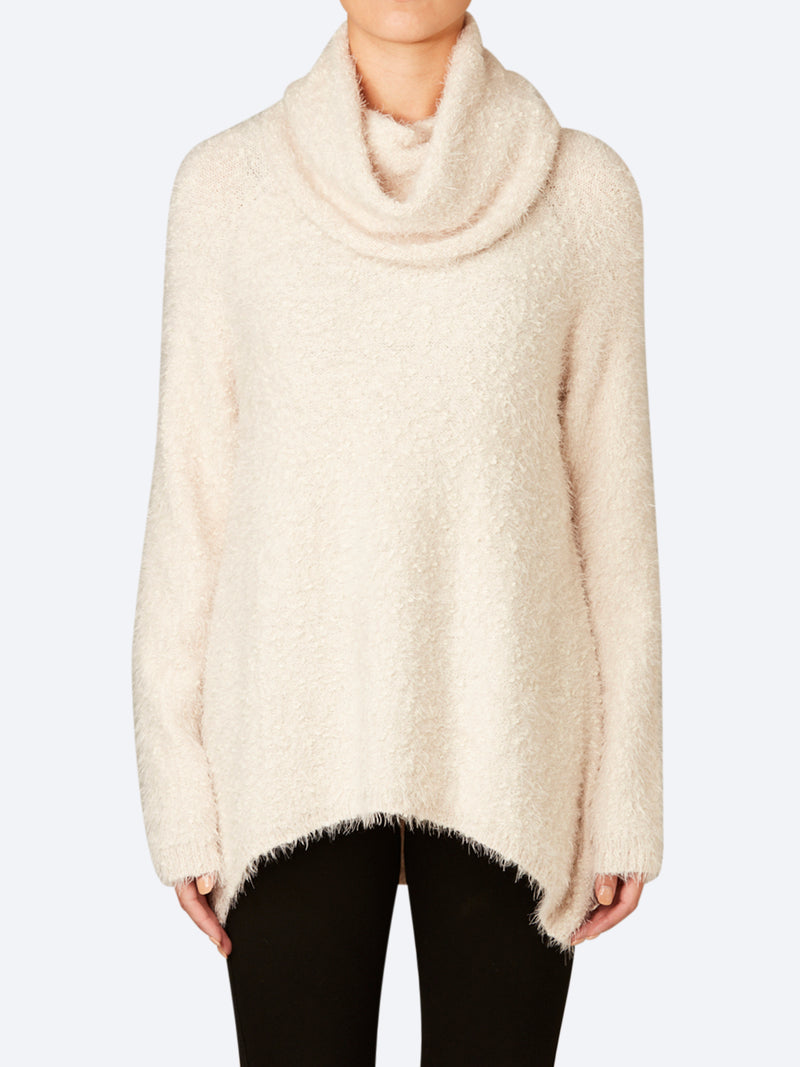 SPECKLE COWL NECK