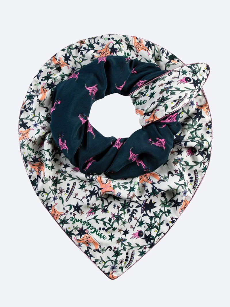 POM AMSTERDAM CAROUSEL DOUBLE SCARF