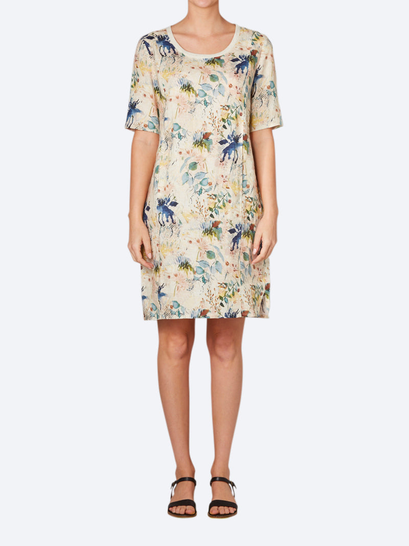 RANDOM HARPER LINEN DRESS