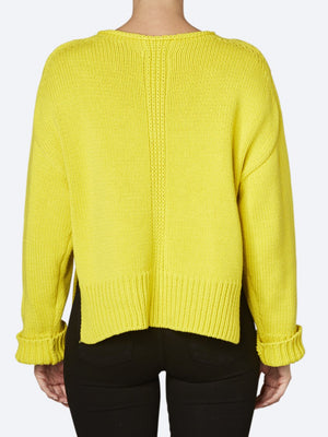 SANDWICH RIBBED NEON JUMPER