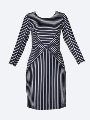 SANDWICH STRIPE JERSEY DRESS