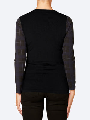 TANI TWILL LONG SLEEVE HIGH NECK