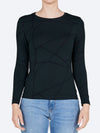 TANI PRINT LONG SLEEVE HIGH NECK TEE