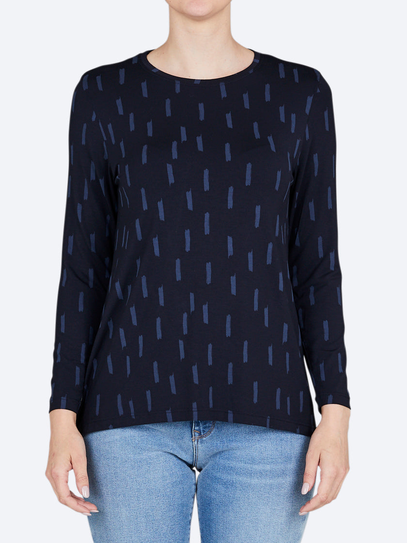 TANI PRINT LONG SLEEVE SWING TOP