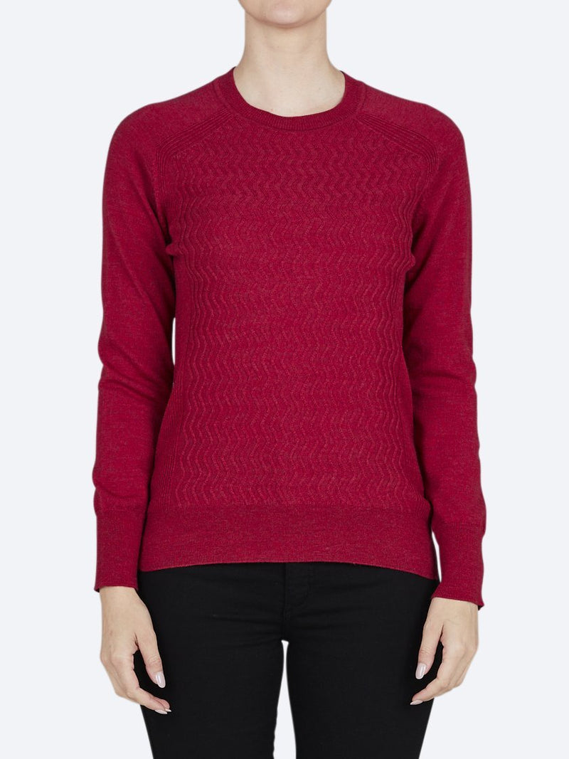 Yeltuor - TOORALLIE - Knitwear - TOORALLIE EDEN MERINO WOOL SWEATER - WARRATAH -  8