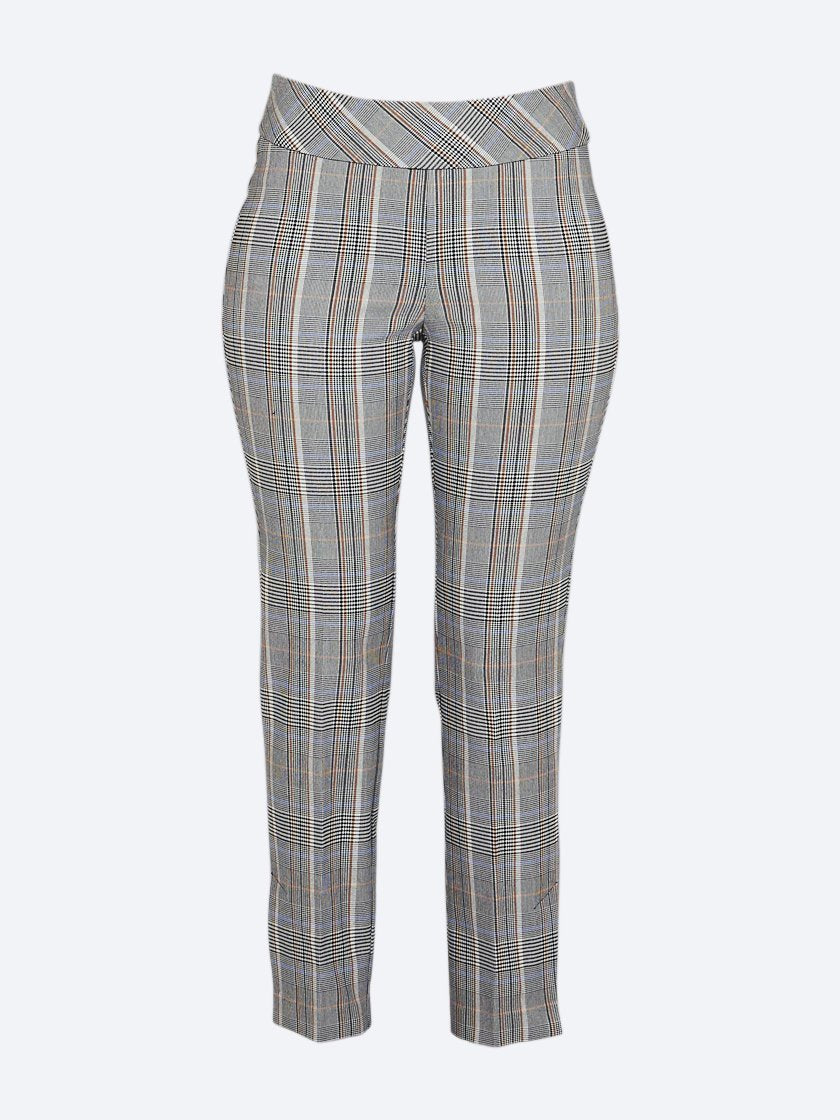 Yeltuor - UP PANTS - Pants - UP! SLIM SIDE PLAID VENT PANT -  -