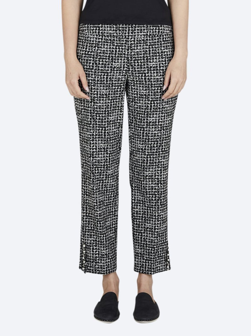 Yeltuor - UP PANTS - Pants - UP! JACQUARD SIDE SLIT ANKLE PANT -  -