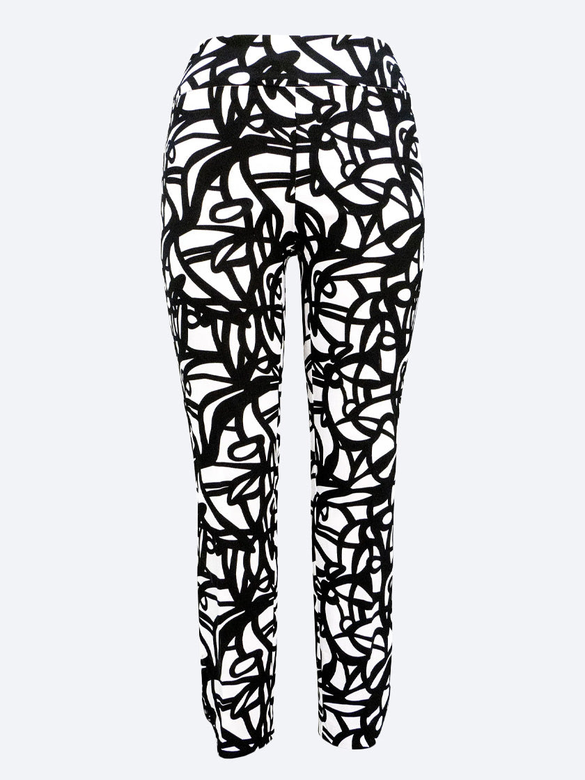 UP! SCRIBBLE PETAL SLIT PANT