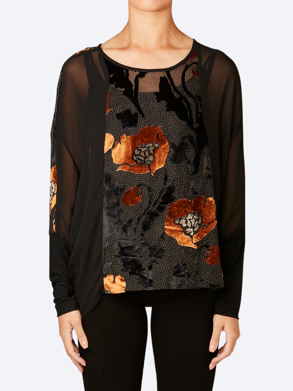VERGE LUSTRE VELVET TOP