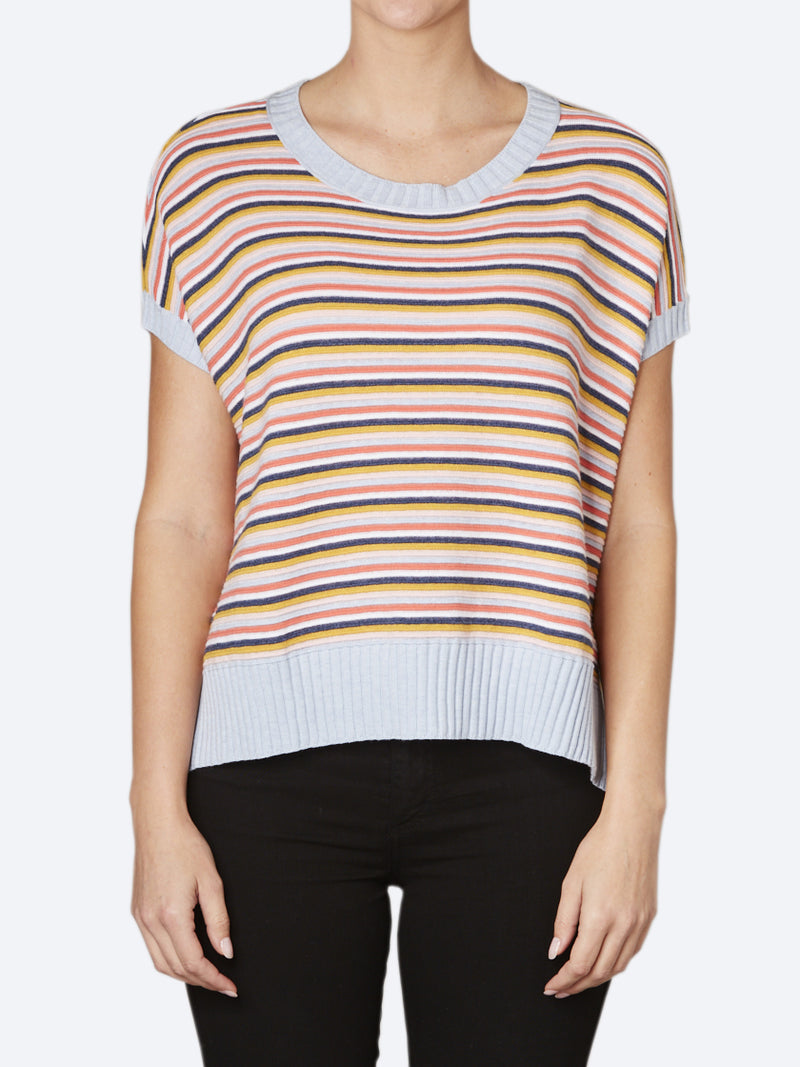 ZAKET & PLOVER STRIPE RIBBED KNIT