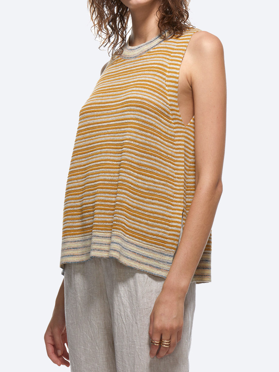 ZAKET & PLOVER STRIPE SLEEVELESS VEST