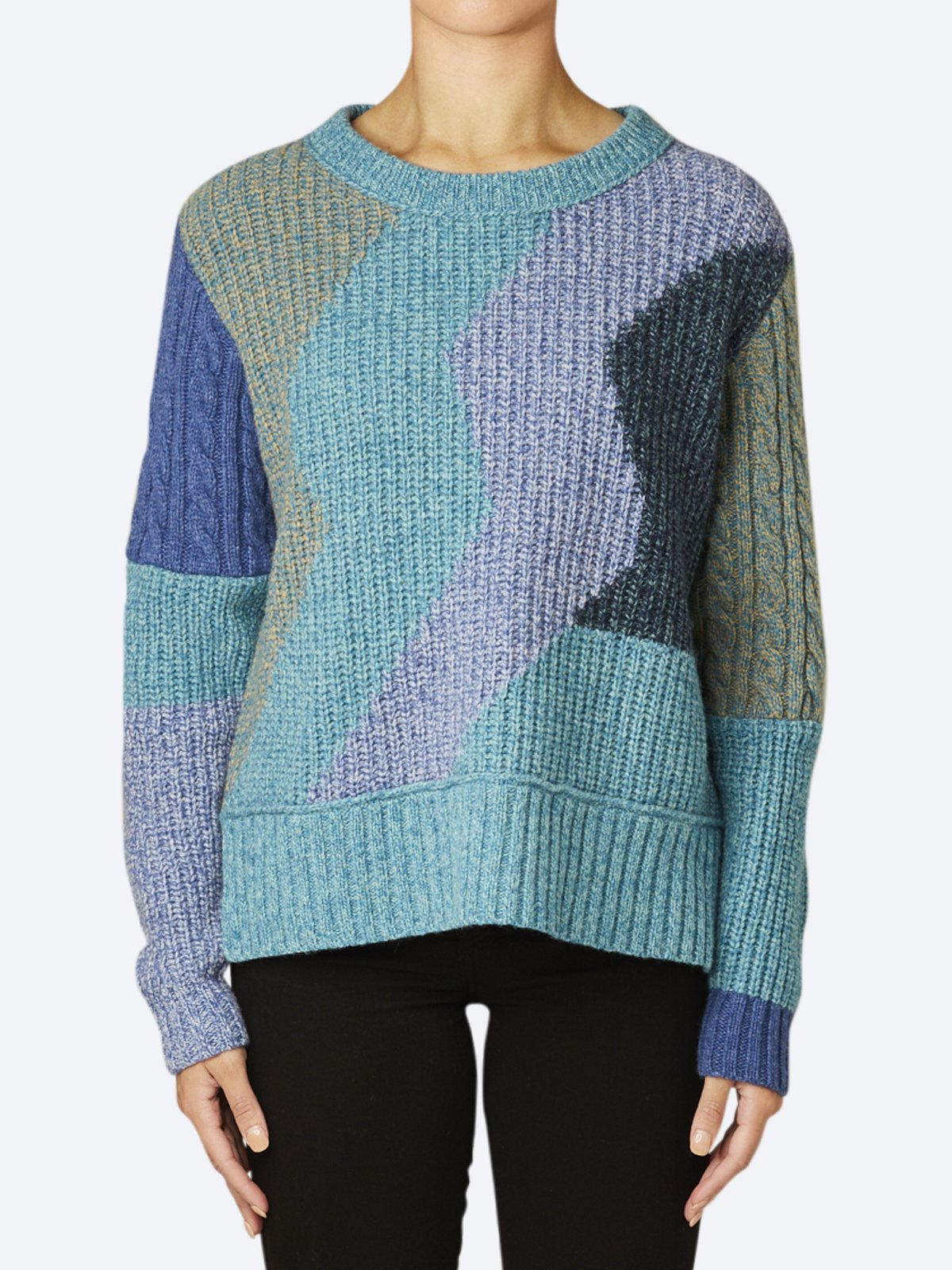Yeltuor - ZAKET AND PLOVER - Knitwear - ZAKET & PLOVER CHUNKY COLOUR BLOCK KNIT -  -