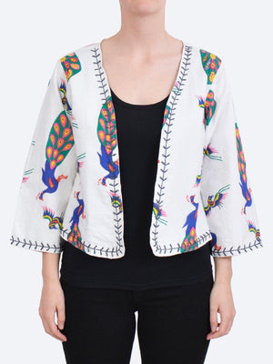 CAKE BEADED COTTON JACKET