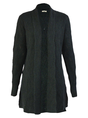 Yeltuor - JAMES MELBOURNE - Knitwear - JAMES MELBOURNE WOOL CASHMERE CABLE CARDI - IVY -  XS