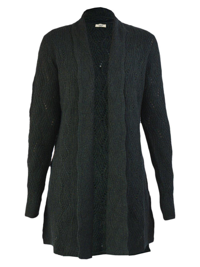 Yeltuor - JAMES MELBOURNE - Knitwear - JAMES MELBOURNE WOOL CASHMERE CABLE CARDI -  -