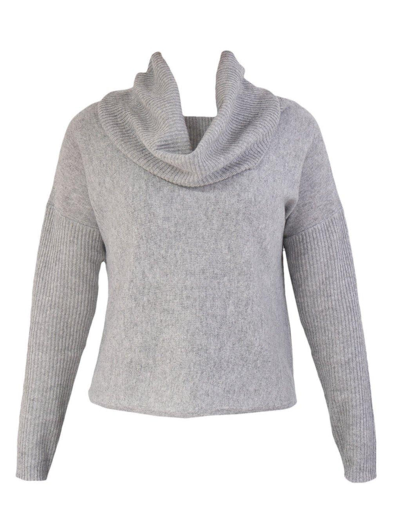 Yeltuor - JAMES MELBOURNE - Knitwear - JAMES MELBOURNE ROLL NECK KNIT - FLOWER GREY -  XS