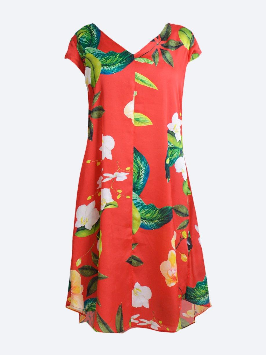 MELA PURDIE SWAY DRESS PLANTATION RED
