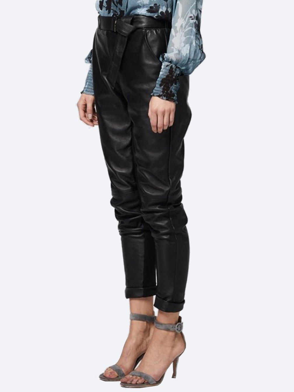 Yeltuor - ONCE WAS - Pants - ONCE WAS ASTRAL RELAXED LEATHER PANT -  -